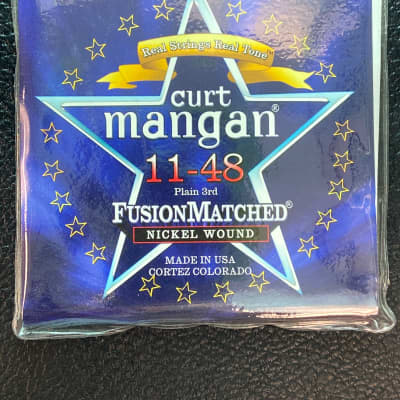 Curt Mangan 11148 Fusion Matched Nickel Wound Electric Guitar Strings (11-48)