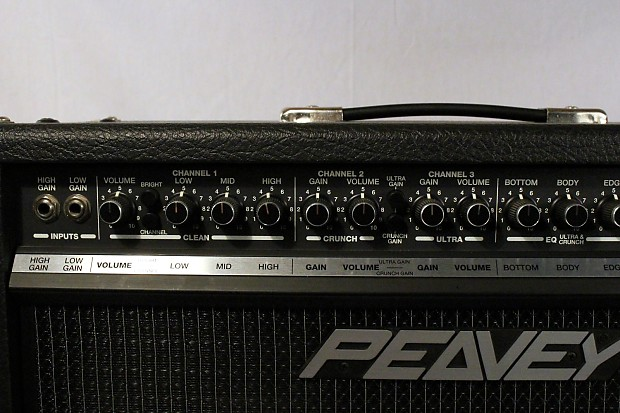 peavey ultra 410 3 channel tube electric guitar amp w foot reverb. Black Bedroom Furniture Sets. Home Design Ideas