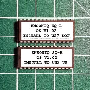 Ensoniq SQ-R OS v1.02 EPROM Firmware Upgrade SET