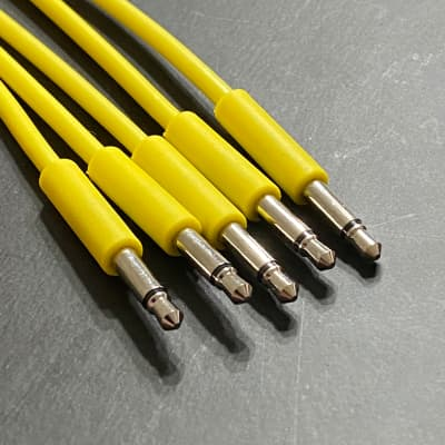 Eurorack Patch Cable 6 inch (5pcs) Yellow