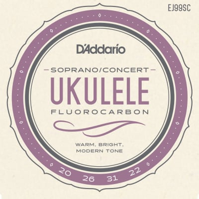 D'Addario EJ99SC Pro-Arté Carbon Ukulele Strings Soprano / Concert