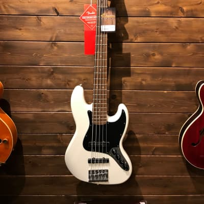 Fender Deluxe Active Jazz Bass V with Pau Ferro Fretboard White 2018 for sale
