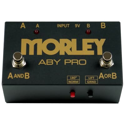 Morley ABY Pro 2-Button ABY Signal Switcher Pedal Silent Switching, Reverse Polarity for sale