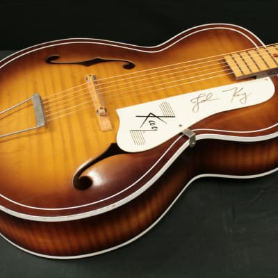 Kay N-4 acoustic archtop Early 1960's Ice Tea burst flame - Signed by Steppenwolf frontman John Kay for sale