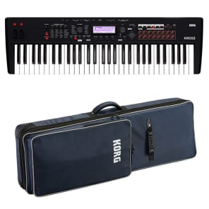 Korg Kross 2 61 Music Workstation - Matte Black CARRY BAG KIT