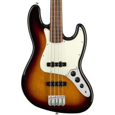 Fender Player Jazz Bass Fretless Pau Ferro Fingerboard 3-Color Sunburst Bass