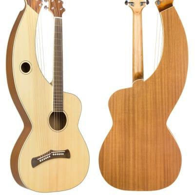 Tonedevil Model D Harp Guitar 2019 natural satin for sale