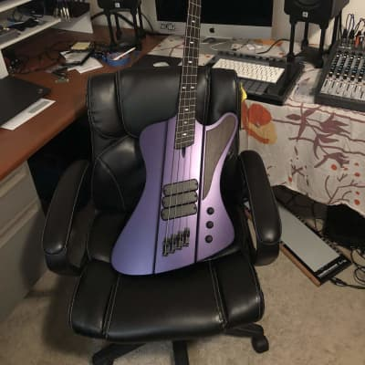 Dingwall D-Bird,  2018 Custom Canadian Built, Candy Purple, Wenge Neck, Luminlay Side Dots for sale