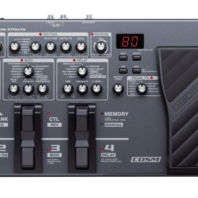 New Boss ME-80 Guitar Multiple Effects Guitar Pedal!