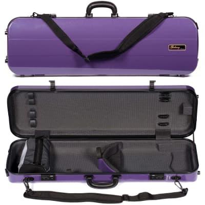 Galaxy Audio Galaxy Comet 500SL Oblong Purple Violin Case with Gray interior for sale