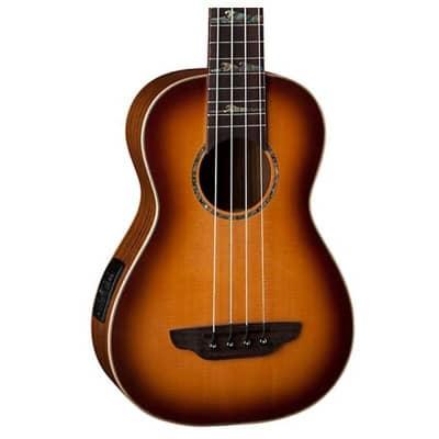 Luna High Tide Spruce Top Acoustic Bass Ukulele Satin Sunburst Finish + Gig Bag for sale