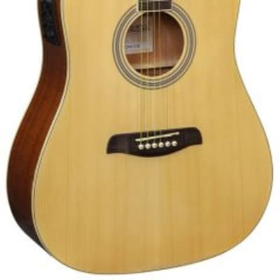 Brunswick BD200CE Dreadnought Cutaway Electro, Natural for sale