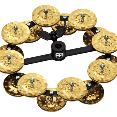 """Meinl Percussion HTHH2B-BK Headliner Series Hi-Hat Tambourine With Hammered Brass Jingles 5"""""""