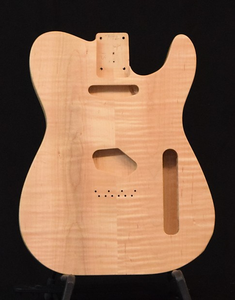 Solid Two Piece Flame Maple Telecaster Style Body Clear Coat Reverb
