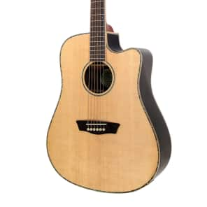 Washburn WD25SCE Dreadnought Cutaway with Electronics Natural