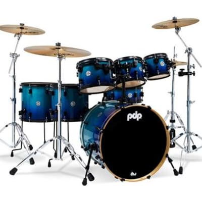 PDP Concept Maple 7-Piece Shell Pack - Gloss Blue Fade (Used/Mint)