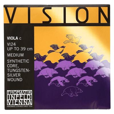 Thomastik-Infeld VI24 Vision Tungsten/Silver-Wound Synthetic Core 4/4 Viola String - C (Medium)
