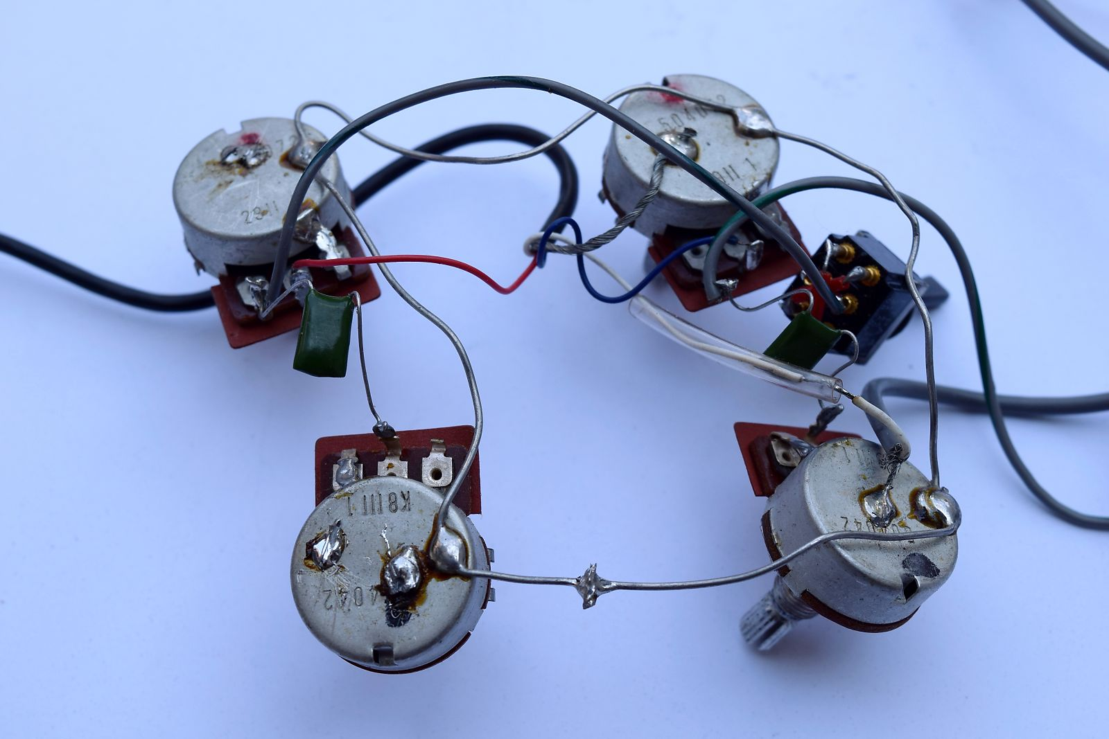 Ibanez Musician or Artist Wiring Harness :: Left-Handed :: Lefty on