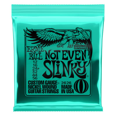 Ernie Ball Not Even Slinky Nickel Wound Electric Guitar Strings 12-56 Gauge