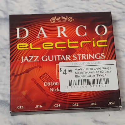 Martin Darco Light Gauge Nickel Wound 12-52 Jazz Electric Guitar Strings