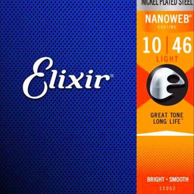 Elixir Nanoweb Coated 10-46 Electric Guitar Strings Light 12052