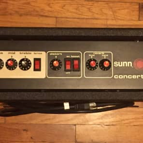 Sunn Concert Lead Guitar Amp Head