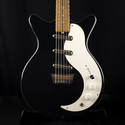 Used Late 90s Jerry Jones Double Cut Shorthorn 3 Pickup Black Electric Guitar
