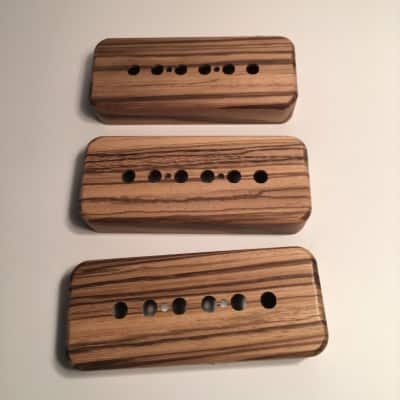 Guilford Zebrawood P-90 Pickup Covers - Set Of 3 - Seymour Duncan/ PRS - USA  Natural Wood