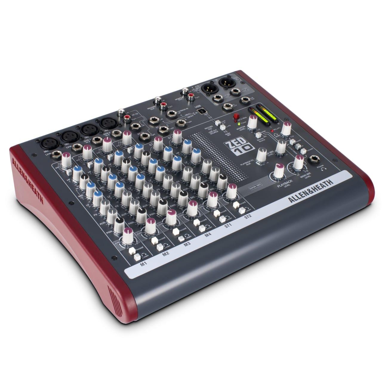 Global Views Lp: Allen & Heath ZED-10 10-channel Mixer, 4 XLR & 3