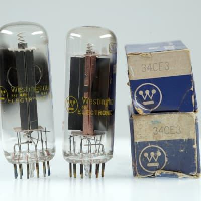 2 Vintage Westinghouse 34CE3 / 34CD3 Half Wave Rectifier Compactron Valve - BangyBang Tubes