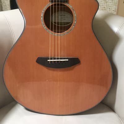 Breedlove Pursuit Concert CE Red Cedar/Mahogany Concert with Built-in Electronics Natural 2018