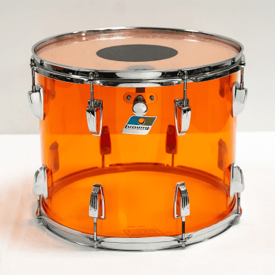 """1970s Ludwig Vistalite 12x15"""" Mounted Tom with Single-Color Finish"""