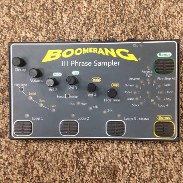 Boomerang III Phrase Sampler Looper with Power Adaptor Looping Pedal image