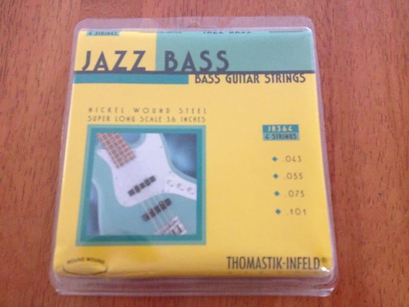 Thomastik Infeld JF344 Nickel Flat Wound Round Core Jazz Bass Strings 43-100