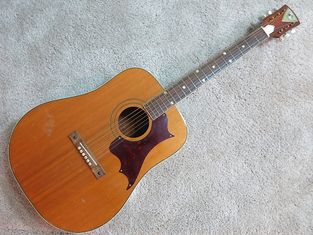 Vintage 1960s Kay Dreadnought Acoustic Guitar Project High Reverb