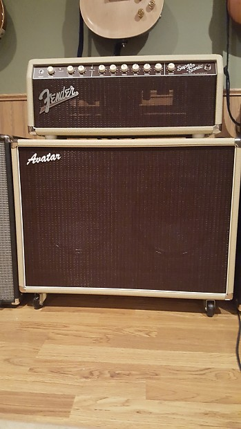 fender super sonic 22 head blonde avatar 2x12 cabinet reverb. Black Bedroom Furniture Sets. Home Design Ideas