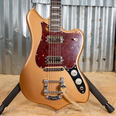 Fender Parallel Universe Maverick Dorado Electric Guitar Firemist Gold for sale