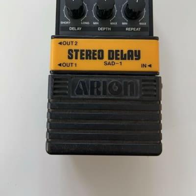 Arion SAD-1 Stereo Analog Delay Rare Vintage Guitar Effect Pedal MIJ Japan