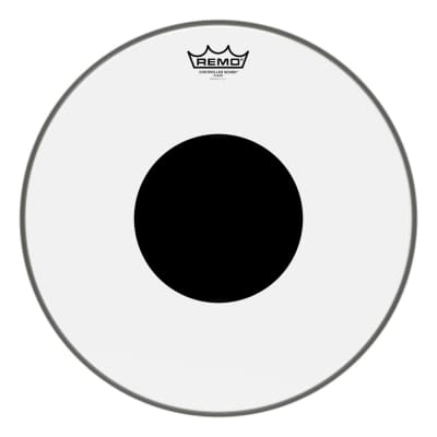 Remo Clear Controlled Sound 16 Inch Drum Head w/Black Dot On Top