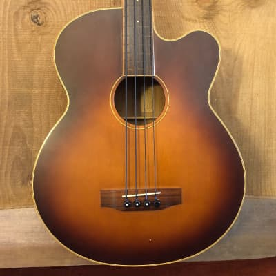Morgan Monroe MVAB-500/C Creekside Fretless Modded Acoustic Electric Bass Guitar Sunburst for sale