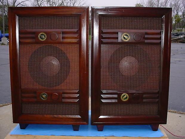Very Rare Jensen Model M Cabinets + Top Model Jensen H510 H 510 Coaxial  Speakers