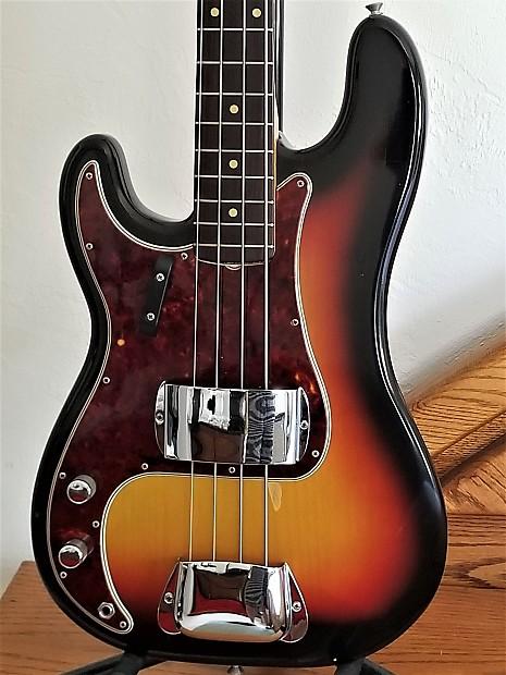 left handed 1963 1964 fender precision bass pre cbs exc reverb. Black Bedroom Furniture Sets. Home Design Ideas