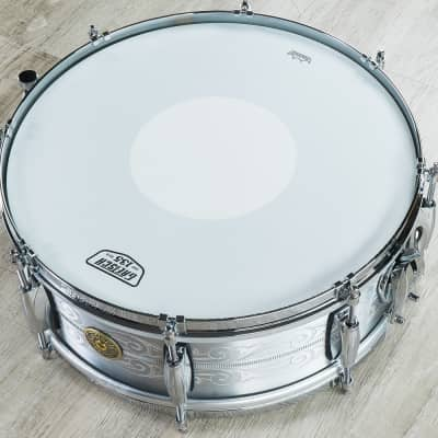"""Gretsch 135th Anniversary Limited Edition Aluminum Snare Drum 5x14"""" + Carry Bag"""