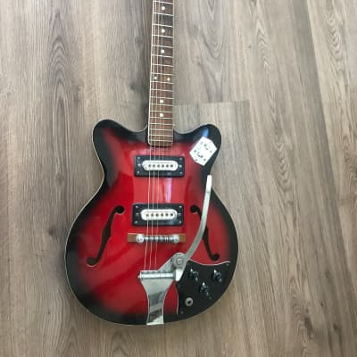 Heit Deluxe late 1960s Cherry Black Burst for sale