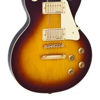 Vintage - V100-TSB - Electric Guitar Gold Hardware - Tobacco Sunburst