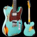 Fender Custom Shop Heavy Relic 1960 Telecaster HS, Rosewood Fb, Aged Surf Green over 3-Color Sunburs