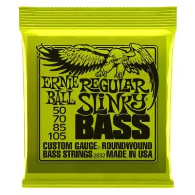 Ernie Ball Regular Slinky 4-String Bass Set, Long Scale 50-105