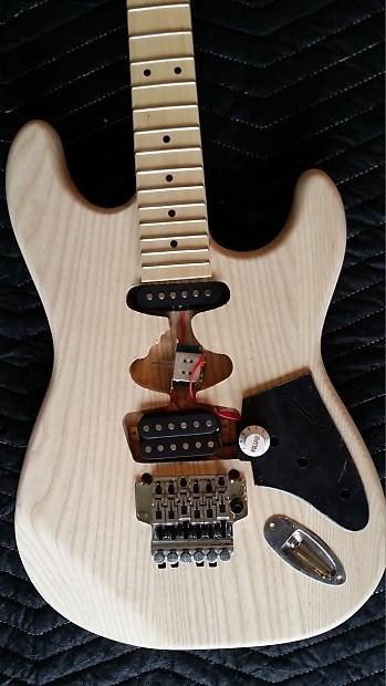 Auto Body Shops >> Frankenstrat EVH Kit Guitar - Ash Body - Floyd Rose | Reverb