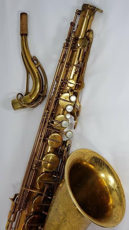 SML Gold Medal 1 Tenor Sax RARE ENGRAVING PLAYS AMAZING - Vintage 1954