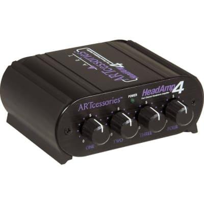 ART HeadAmp 4 Pro 4-Channel Headphone Amp with Talkback